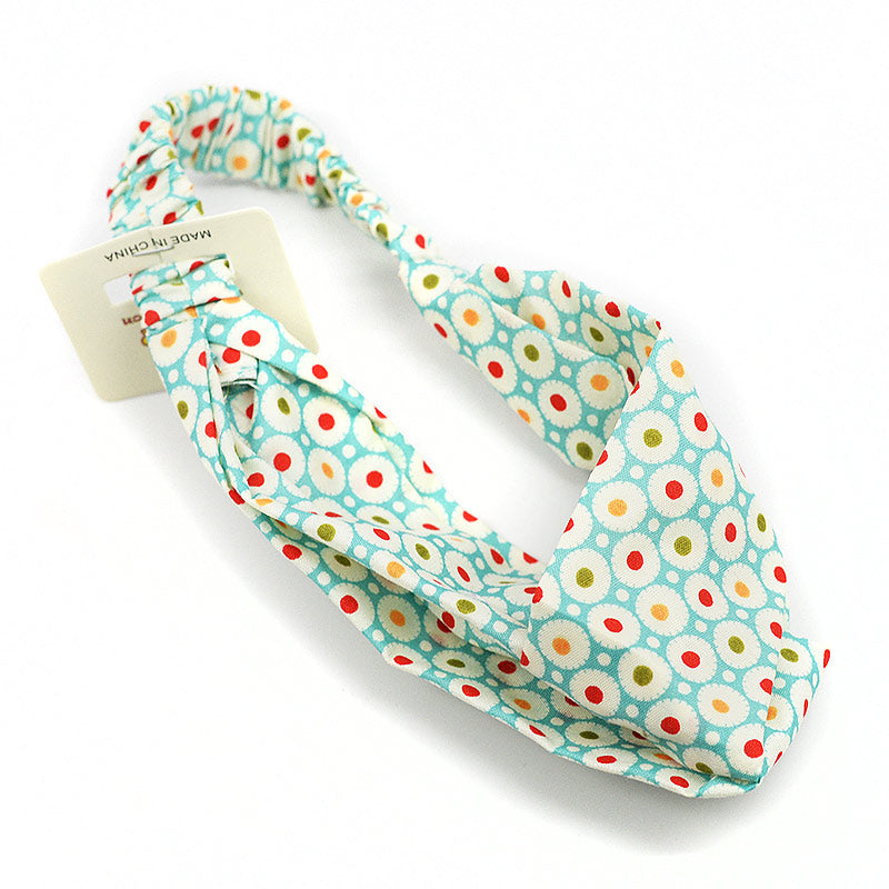 Elastic Kids Cross Knot Hairwrap - Dot Design