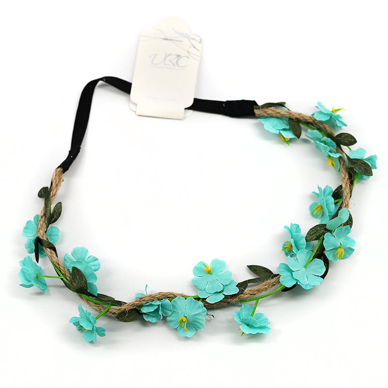 Flowers On Vine Elastic Headband (7 Colors)
