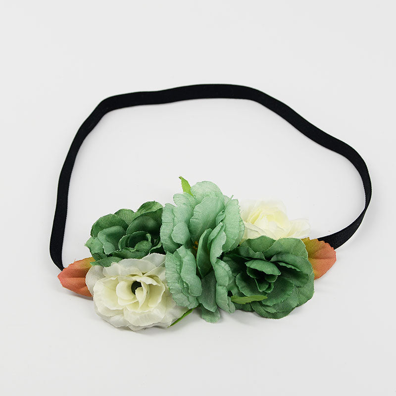 Large Roses with Elastic Headband