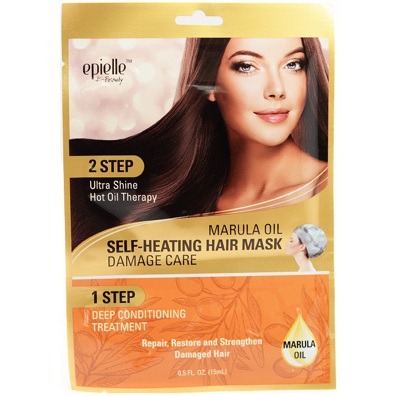 Marula Oil 2-Step Self-Heating Hair Mask - Damage Care