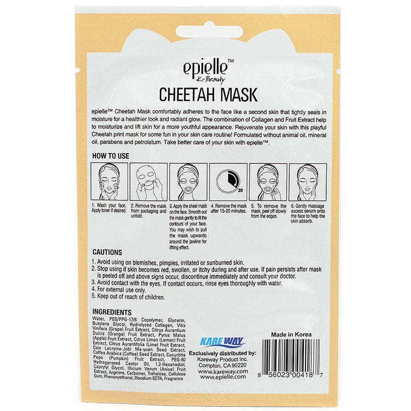 Epielle Moisturizing & Lifting Cheetah Mask