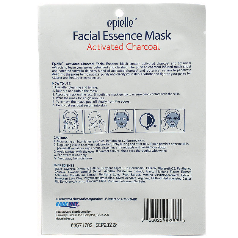 Epielle Facial Essence Mask with Charcoal