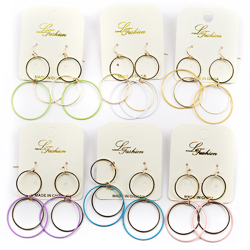 Dangling Triple Hoops Earrings
