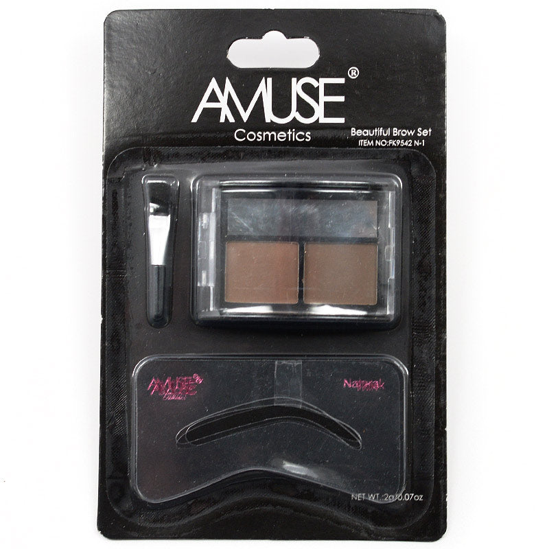 Amuse Duo Tone Beautiful Brow Shadow Set (FK9542 N-1)