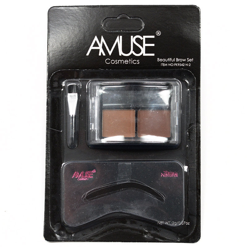 Amuse Duo Tone Beautiful Brow Shadow Set (FK9542 N-2)