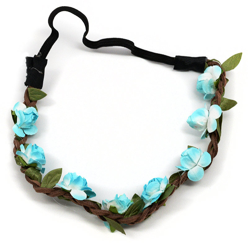 Paper Flowers On Vine Elastic Headband