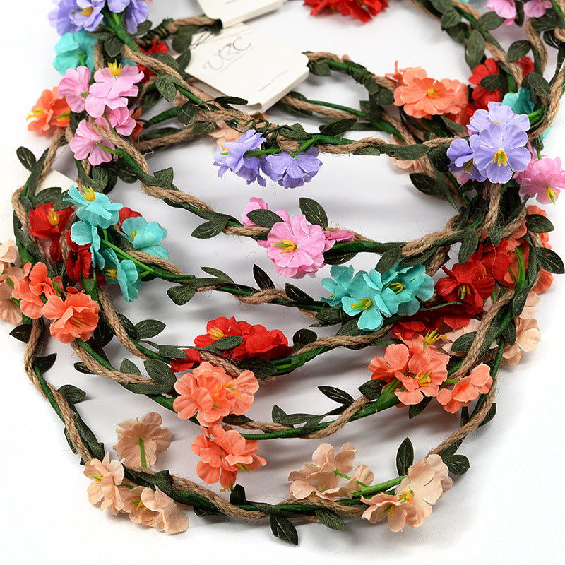 Crown Wreath Flowers On Vine (Set of 6 Colors)