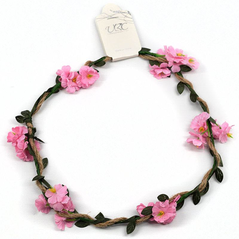 Crown Wreath Flowers On Vine (6 Pcs, 5 Colors)