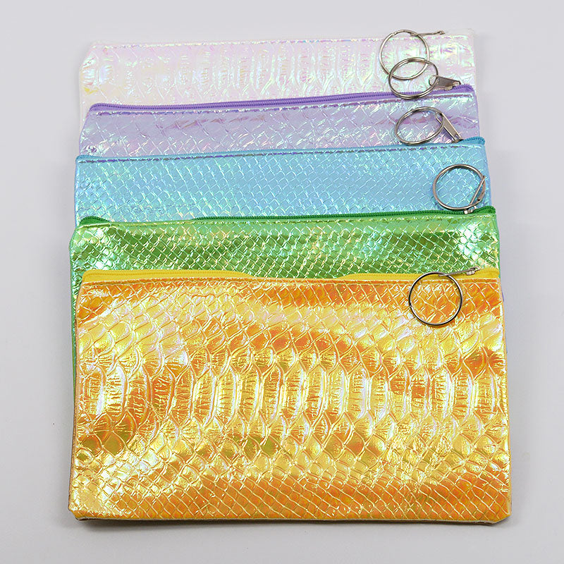 Faux Alligator Skin Cosmetic Bag Pouch