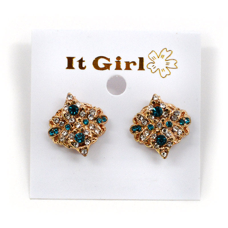 It Girl Flower Pattern With Colorful Rhinestone Clusters (#2563)