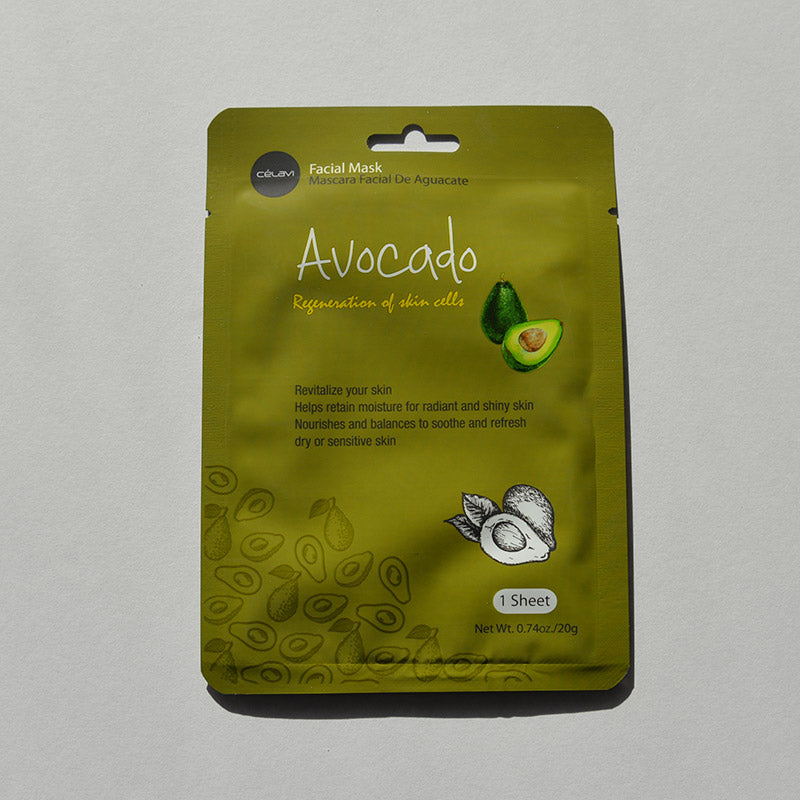 Celavi Facial Sheet Mask - Avocado