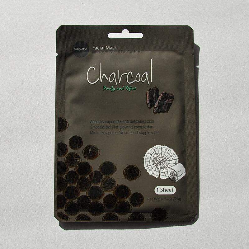Celavi Facial Sheet Mask - Charcoal
