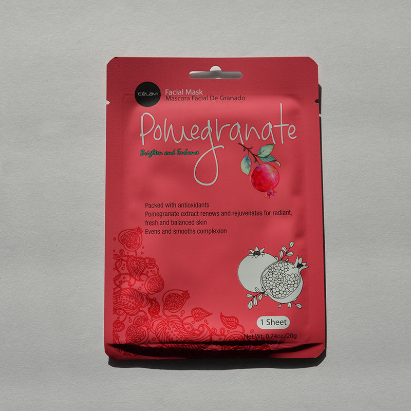 Celavi Facial Sheet Mask - Pomegranate
