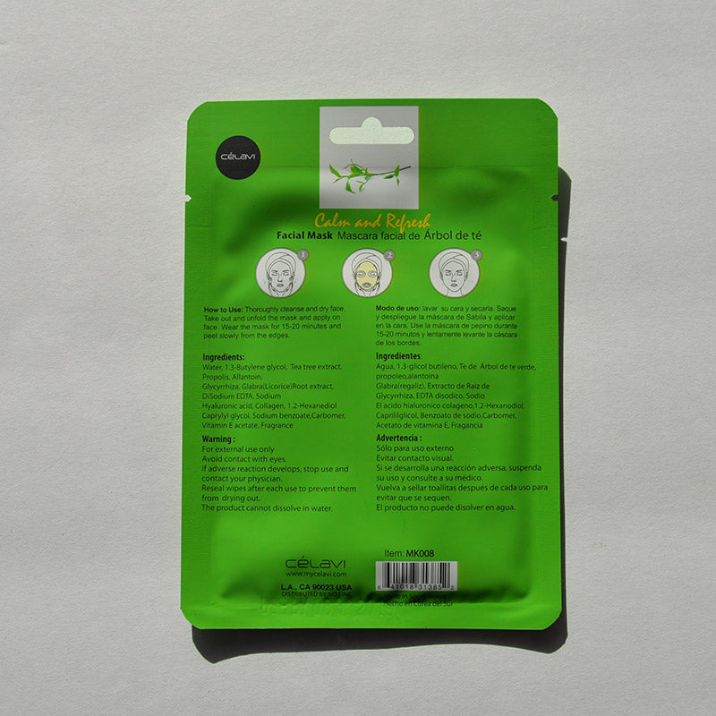 Celavi Facial Sheet Mask - Tea Tree