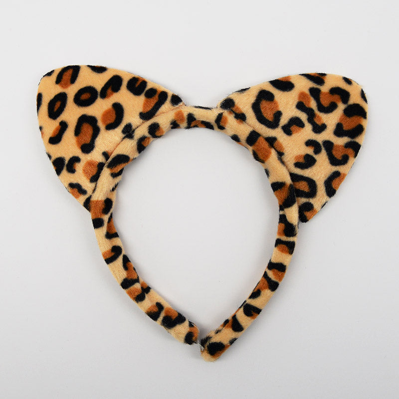 Leopard Print Cat Ear Headband