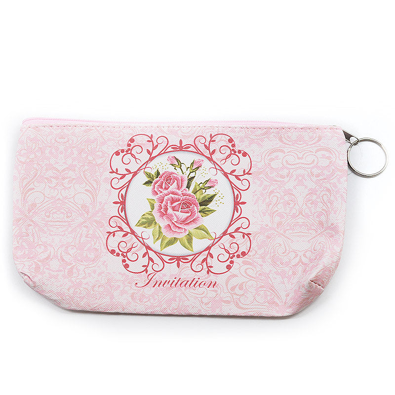 Cosmetic Bag Pouch Rose Design