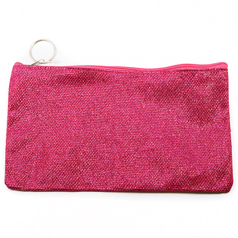 Metallic Thread Cosmetic Bag Pouch