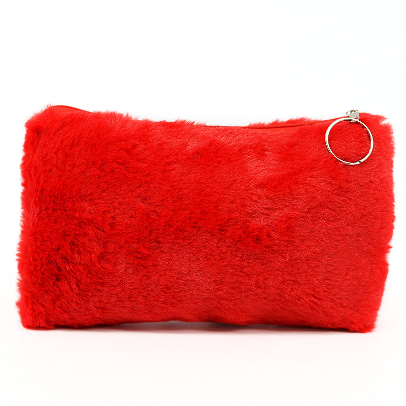 Furry Cosmetic Bag Pouch
