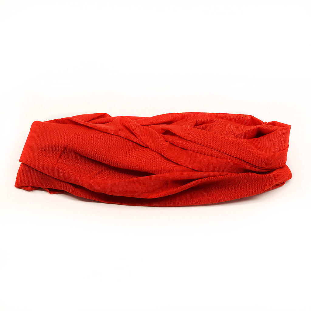 Tube Scarf Multifunctional Head Wear - Red Color