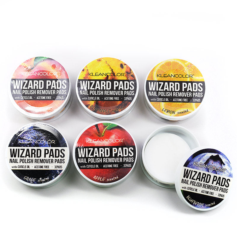Kleancolor Wizard Pads Nail Polish Remover Pads