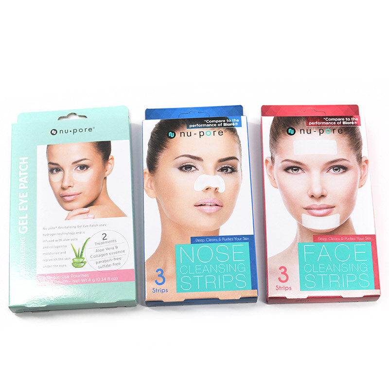 Nu-Pore Eye Patch, Nose Cleansing Strips, Face Cleansing Strips Set