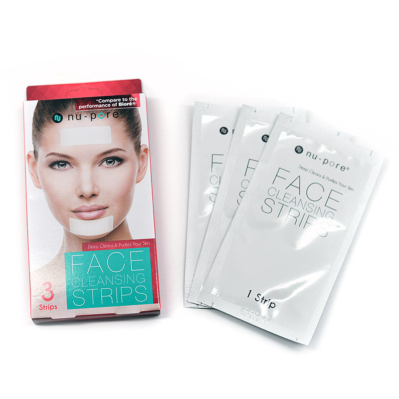 Nu-Pore Face Cleansing Strips (3 strips)
