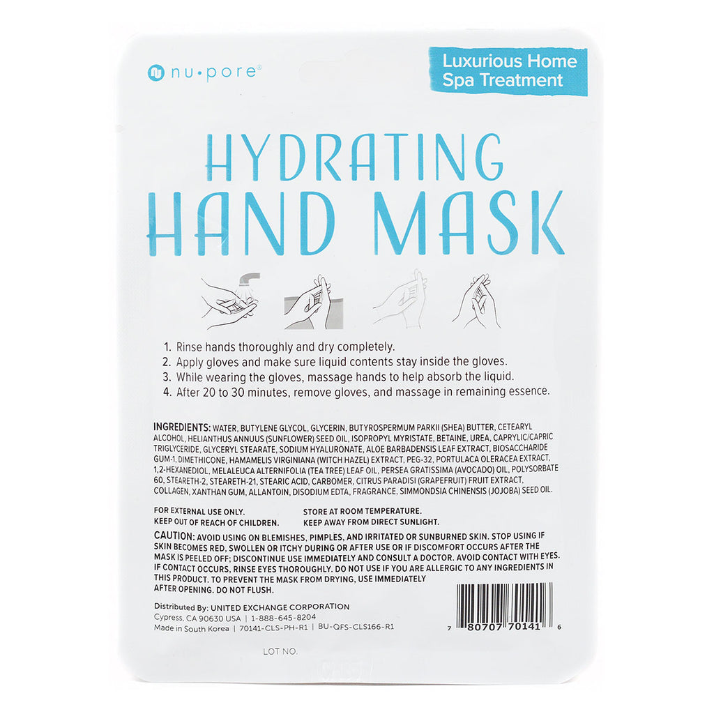 Nu Pore Hydrating Hand Mask (1 Pair of Gloves)