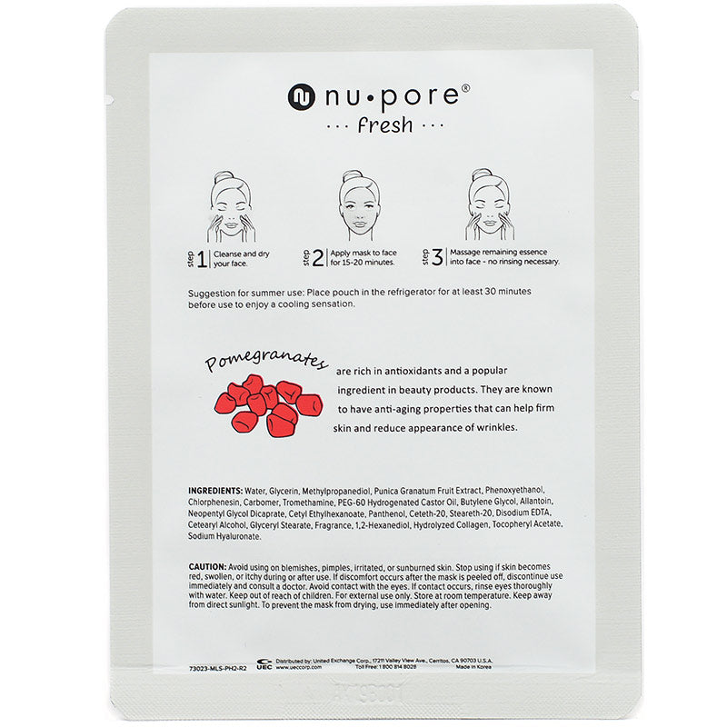 nu pore -fresh- Pomegranate Face Mask