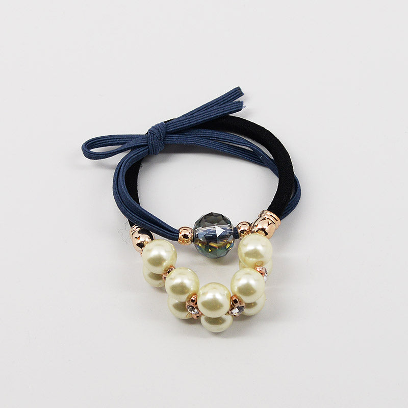 Pearl Bead Hair Tie Set