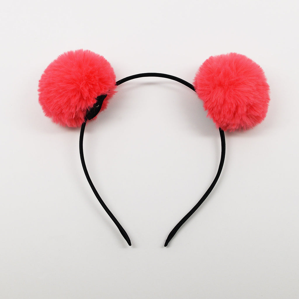 Furry Pom Pom Headbands