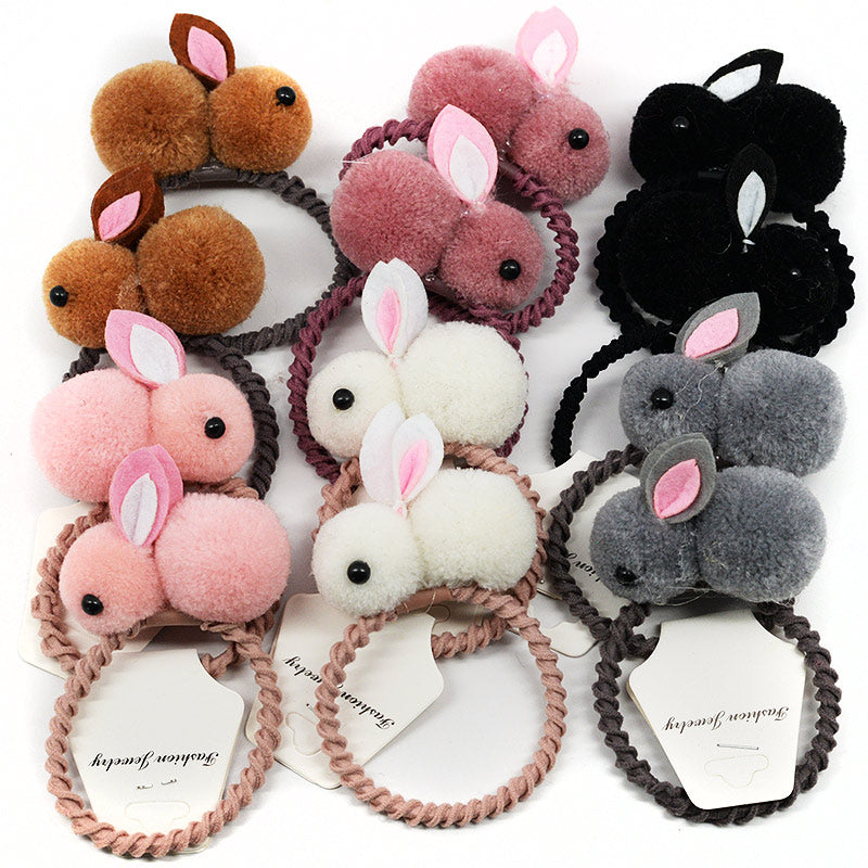 Rabbit Hair Ties