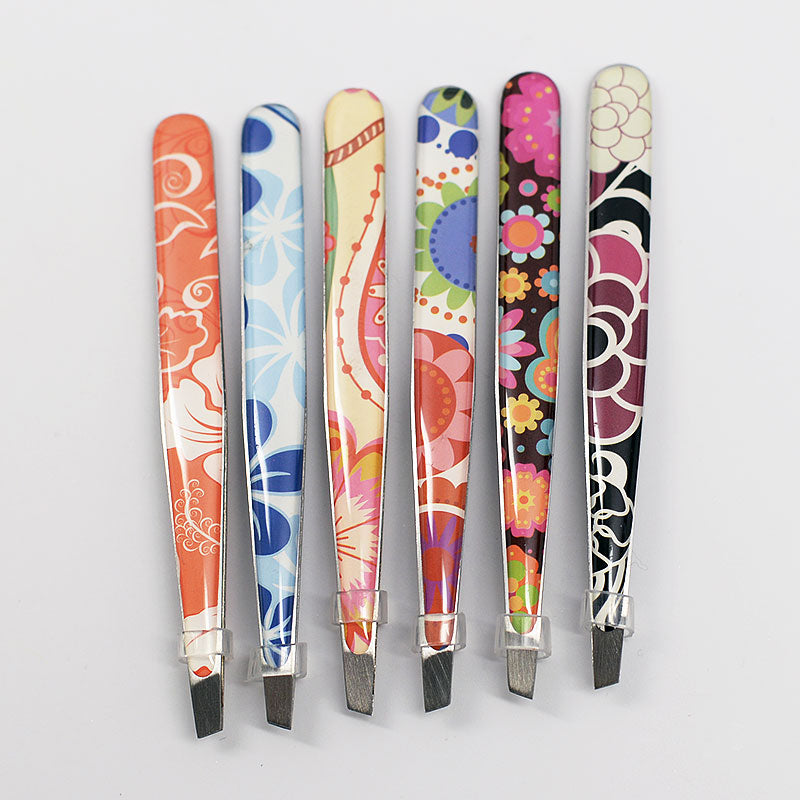 Custom Flower Design Eyebrow Tweezers