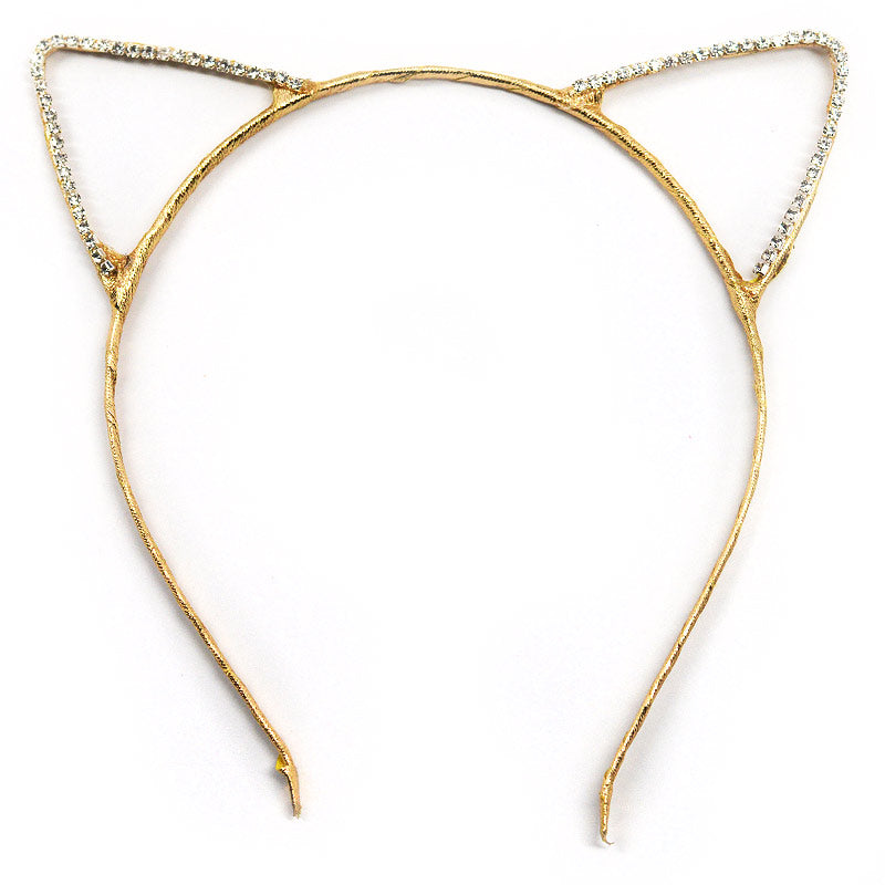 Rhinestone Cat Ear Headbands (1020)