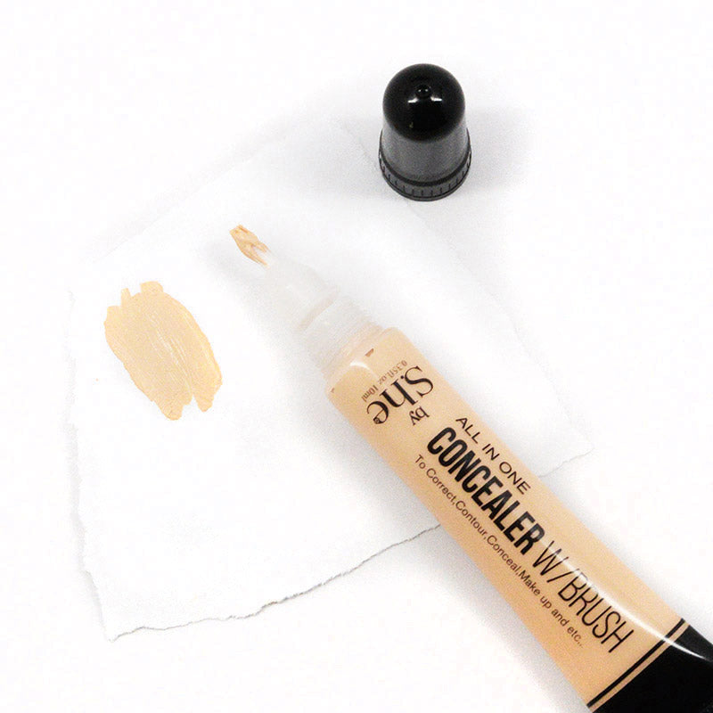 S.he Makeup All in One Concealer with Brush (Beige)