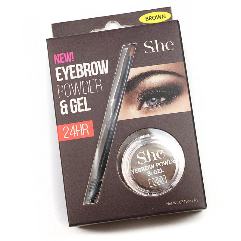 S.he Makeup Eyebrow Powder & Gel - Brown
