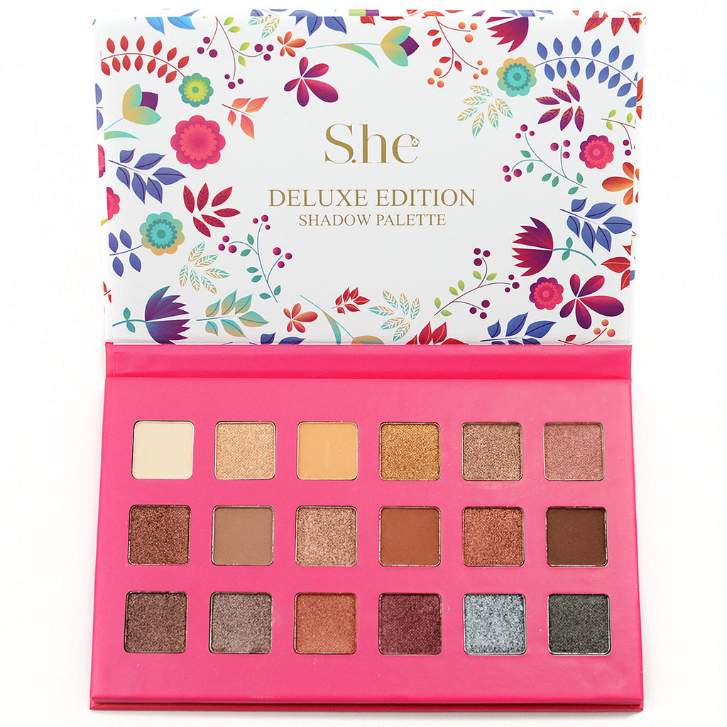 S.he Makeup Deluxe Edition 18-Color Eyeshadow Palette (ES520A)