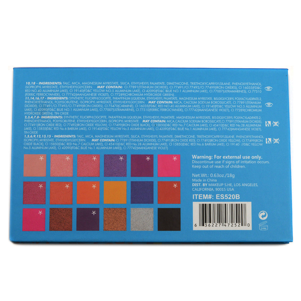 S.he Makeup Deluxe Edition 18-Color Eyeshadow Palette (ES520B)