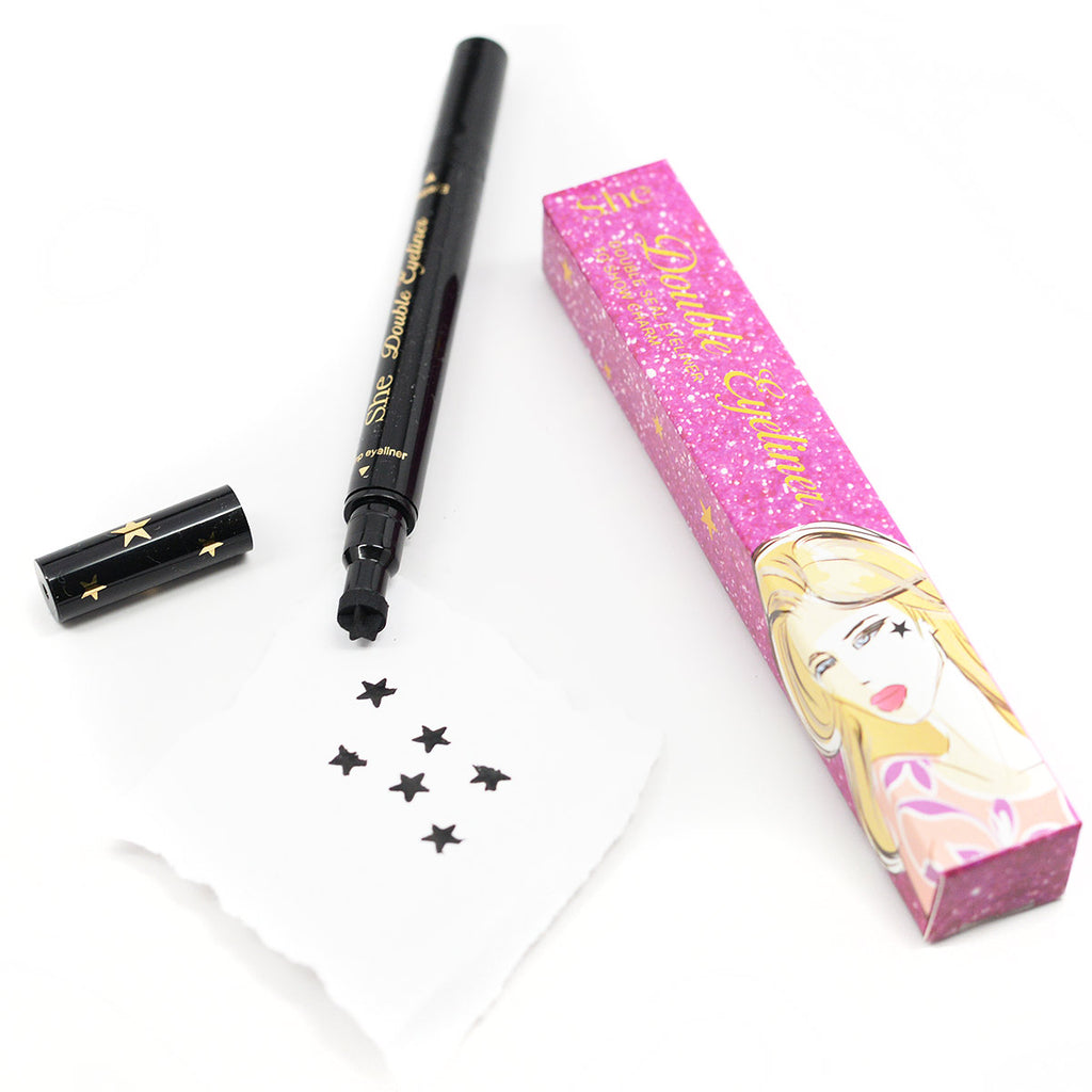 S.he Makeup Double Seal Liquid Eyeliner And Stamp - Star