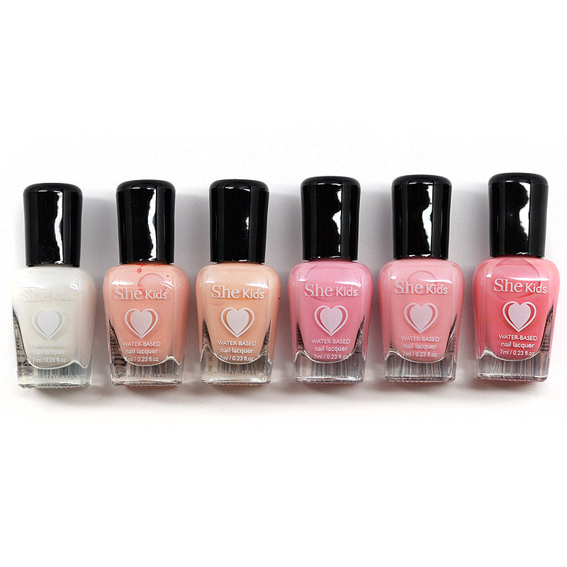 S.he Kids Water Based Nail Lacquer (1-6)