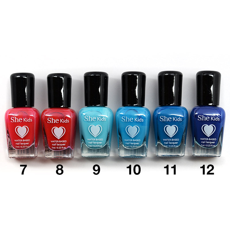 S.he Kids Water Based Nail Lacquer (7-12)