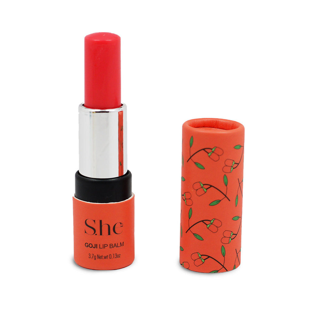 S.he Makeup Lip Balm with Vitamin E - Goji