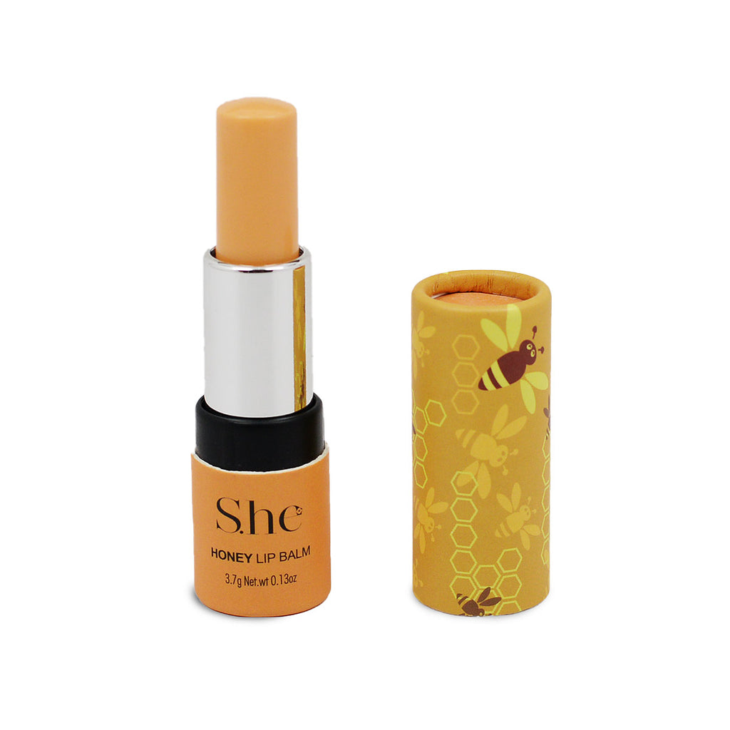 S.he Makeup Lip Balm with Vitamin E - Honey