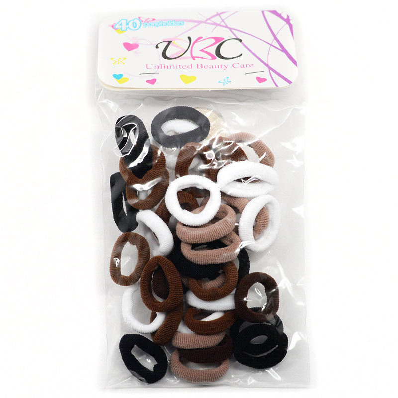 Small Cotton Ponytail Holders (40 Pcs)