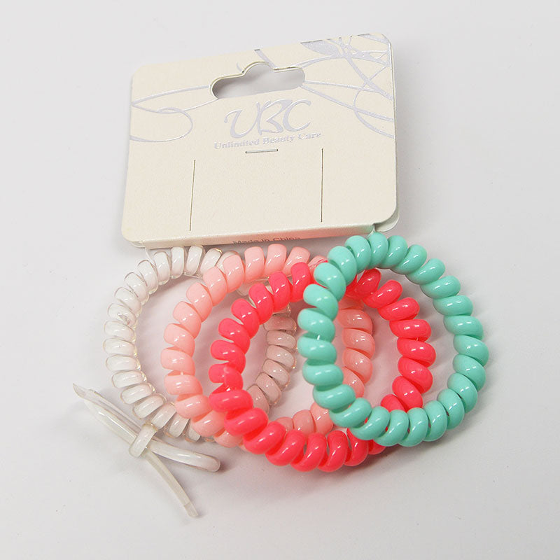 Spiral Telephone Cord Hair Ties (4 Pcs)