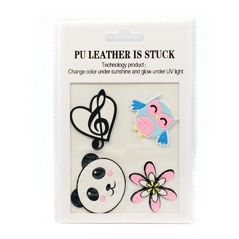 PU Leather Stickers Patches