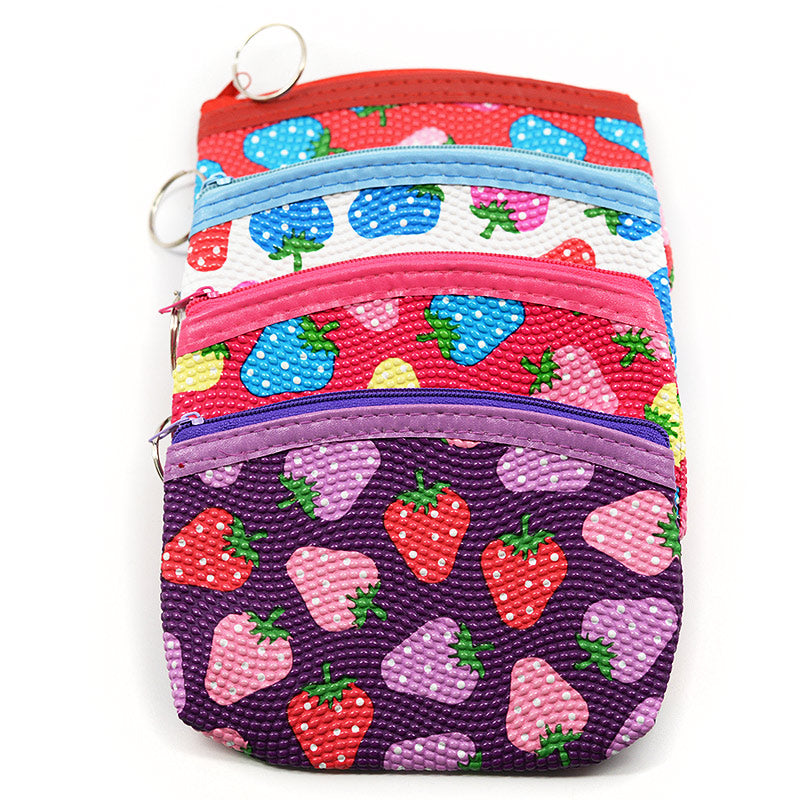 Makeup Pouch / Coin Purse Strawberry Design