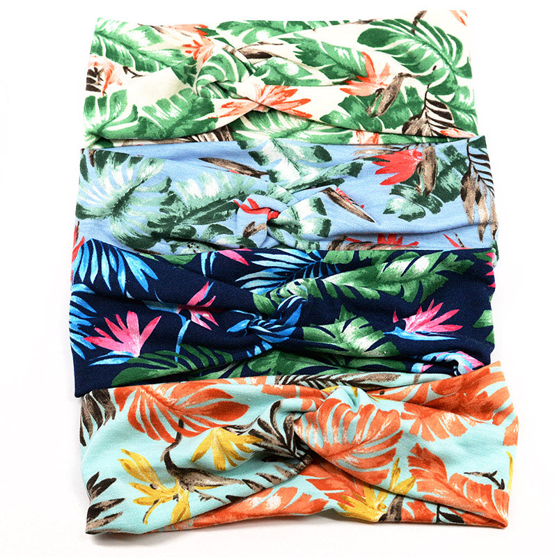 Stretchy Headbands Tropical Flower Design