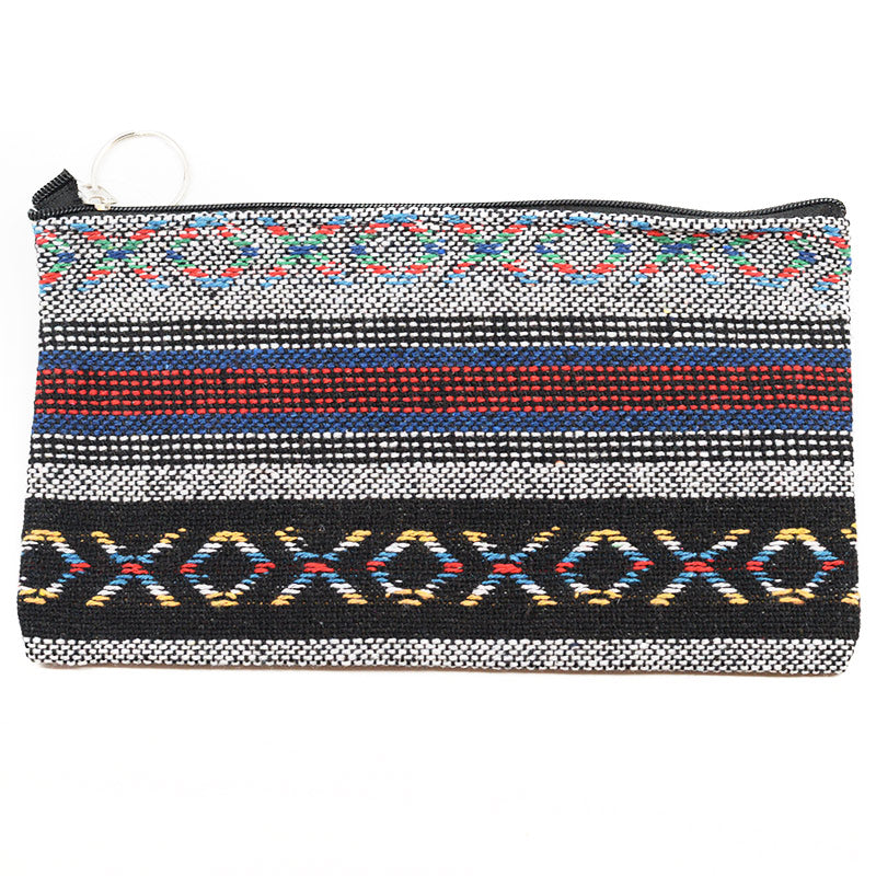Tribal Knit Design Cosmetic Bag Pouch