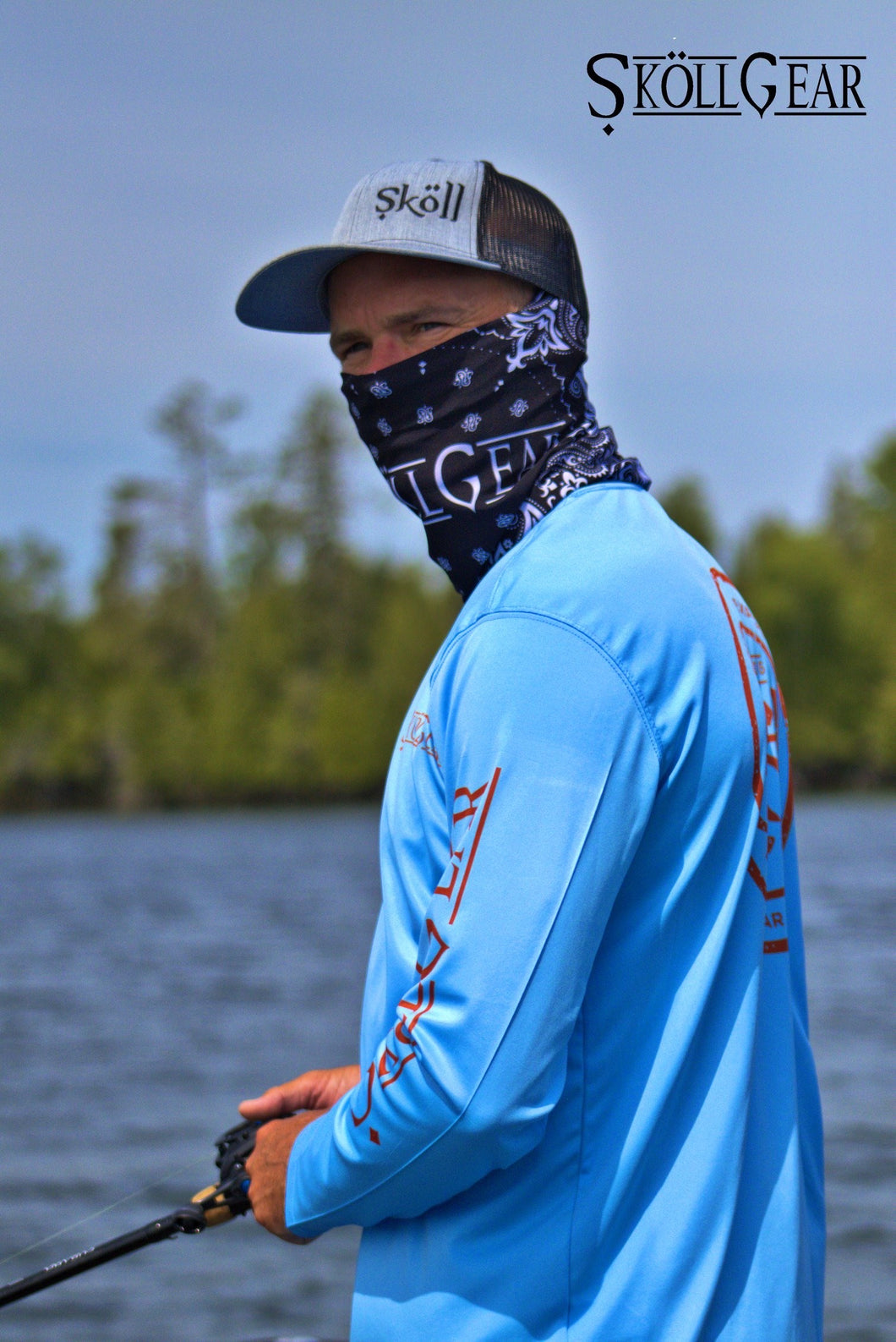 Skollgear long sleeve sun shirt UPF50 to keep you on the water longer.
