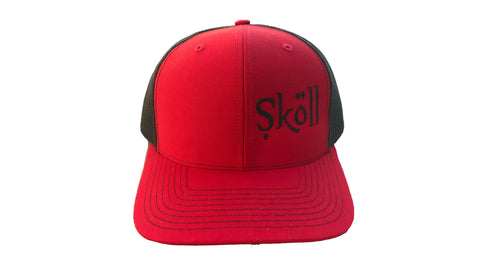 Skoll Trucker Red and Black Hat